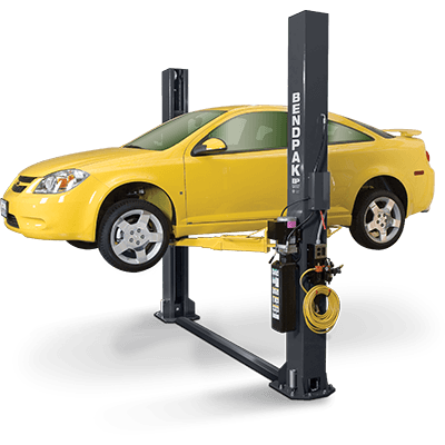 able equipment installers bendpak two post lift